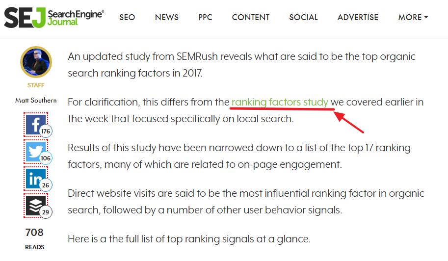 Contextual Backlinks Example